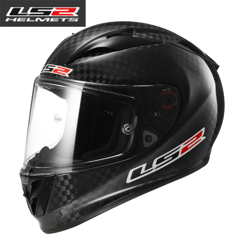 c48afffd Get Quotations · Genuine ls2 helmet carbon fiber helmet motorcycle helmet  full helmet ran racing helmet ultralight weight