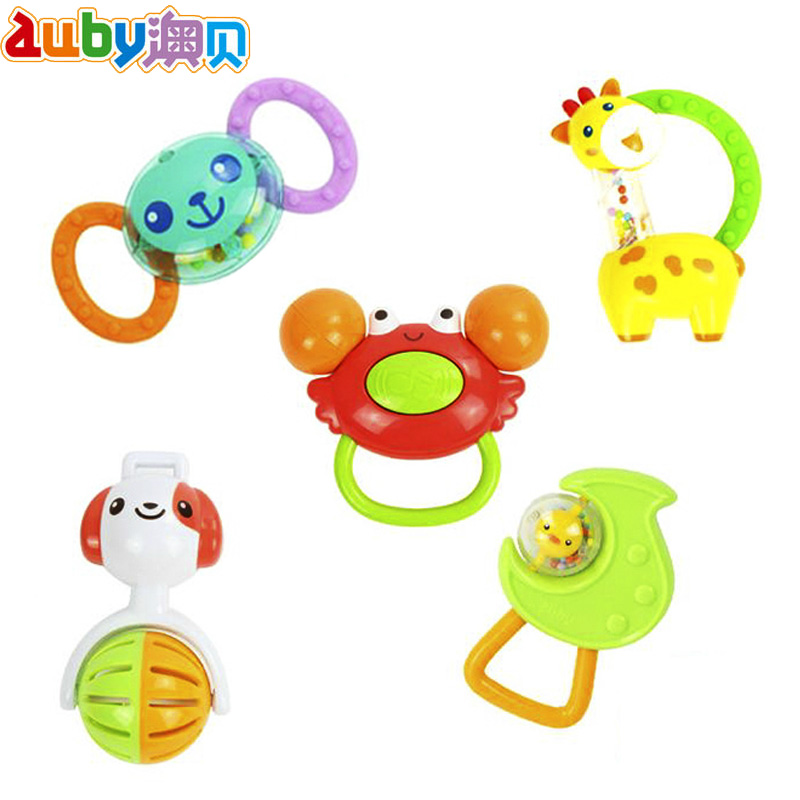 Genuine o pui 5 nonvenomous five boxed rattles 100% obey baby toys teether rattles 463133