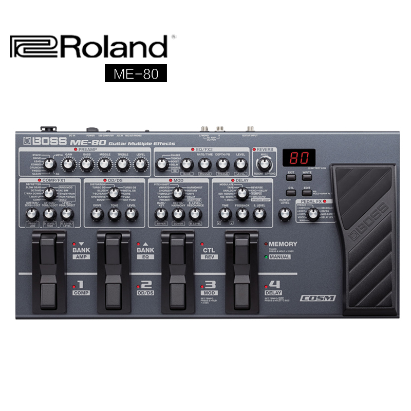 Genuine roland roland boss me80 effects integrated electric guitar effects send original package/power