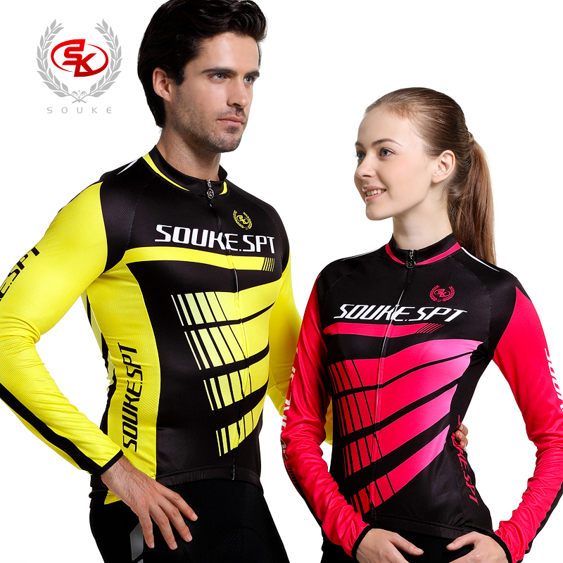 Genuine sk riding clothes for men and women lovers fall and winter clothes long sleeve cycling jersey suit riding equipment shipping