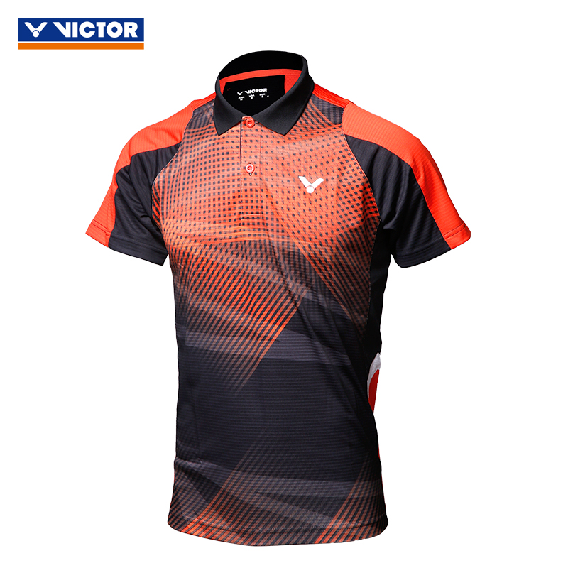 Genuine victor victory badminton clothing female models male models sweatshirt jogging sweat wicking short sleeve t-shirt blouses