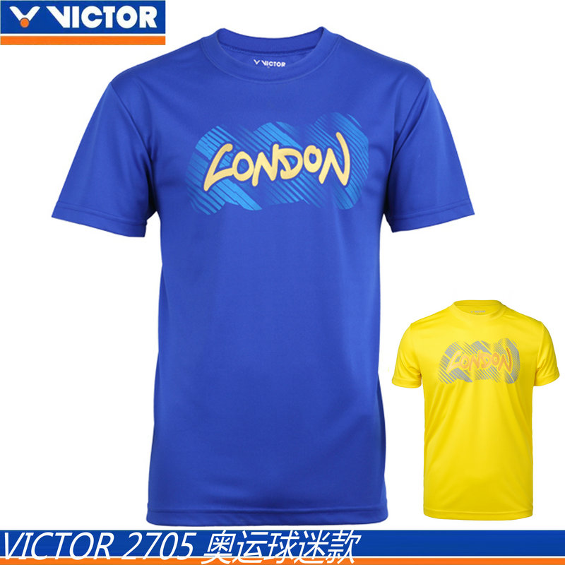 Genuine victory victor victor badminton clothing for male and 2705 wicking short sleeve dress contest