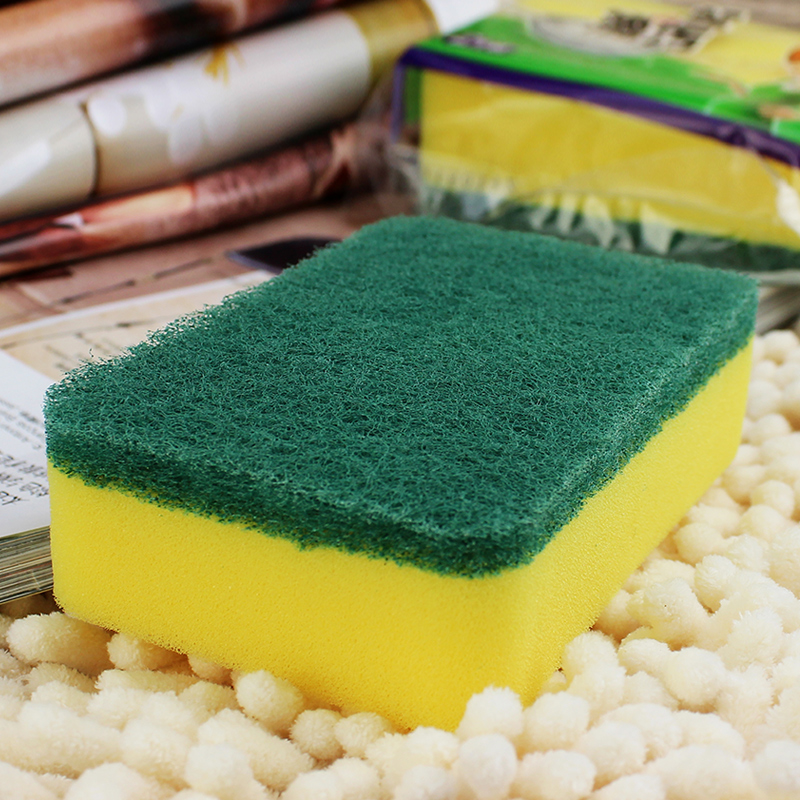 Genuine wonderful clean sponge scouring pad 2 mounted to the oil pollution thicker type durable nonstick oil wash cloth scouring rub