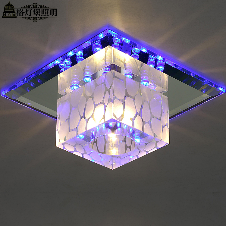 Georgia fort lamp colorful led square living room foyer lights aisle lights corridor lights ceiling crystal ceiling lamp a42