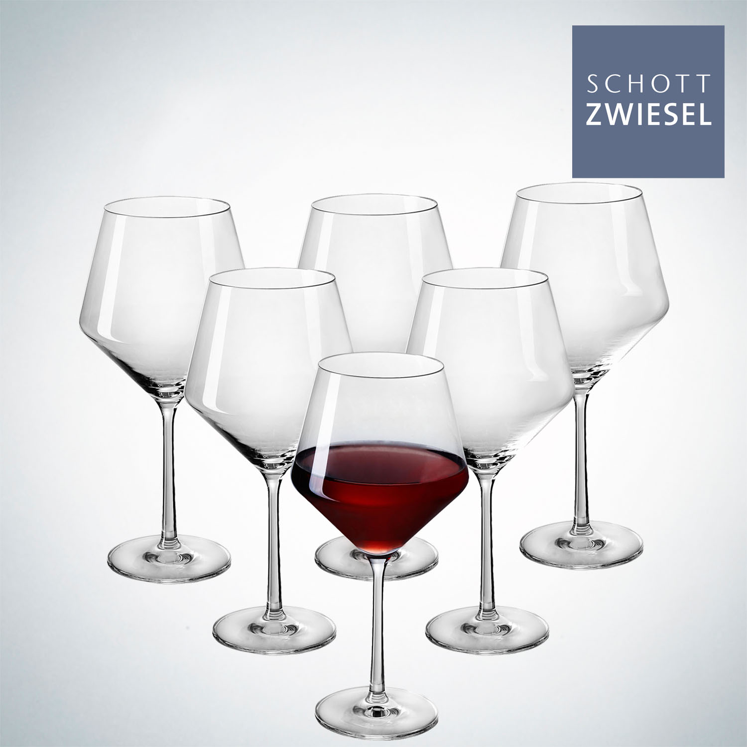 German imports schott schott shengwei sha pure unleaded crystal burgundy red wine glass 6