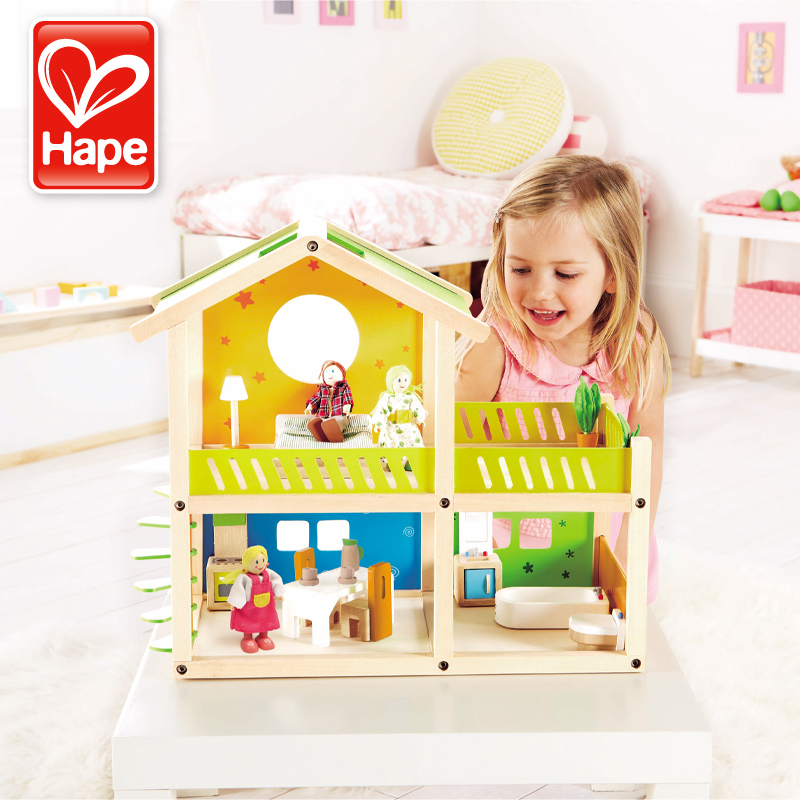 Germany hape play house large villa house baby educational toys for children simulation toys holiday gifts to share