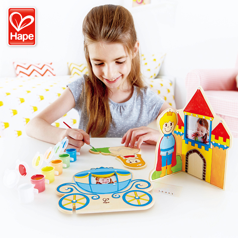 Germany hapediy dimensional graffiti princess castle creative wooden baby early childhood educational and creative toys for children