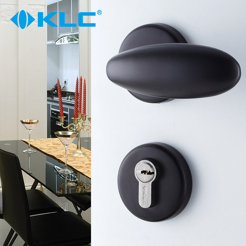Germany klc european space aluminum interior room door locks bedroom kitchen bathroom black werritty