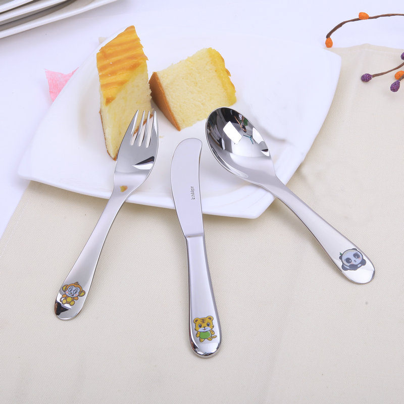Germany konner18-10 stainless steel western knife and fork spoon three sets of imported children children cutlery set