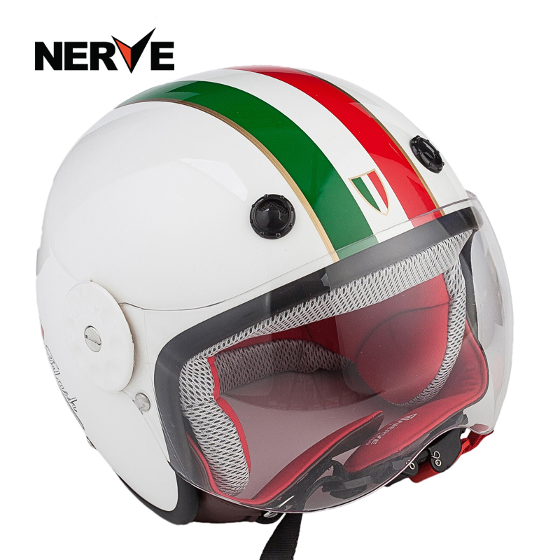 Germany nerve kevlar carbon fiber motorcycle helmets for children child safety helmet half helmet warm seasons