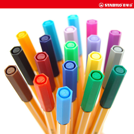 Germany swan stabilo think pen music music 25 color fiber pen 88 gel pen sketch pen sketch pen