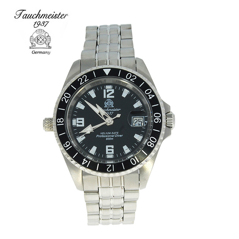 Germany tauchmeister T0098 series of authentic 1937 stainless steel men watches mechanical watches automatic watch
