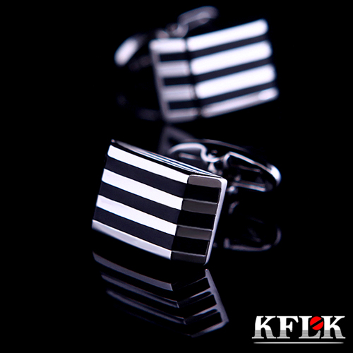 Gift box kflk upscale black onyx cufflinks cufflinks french shirt cufflinks cufflinks men's shirt cufflinks commerce fasteners