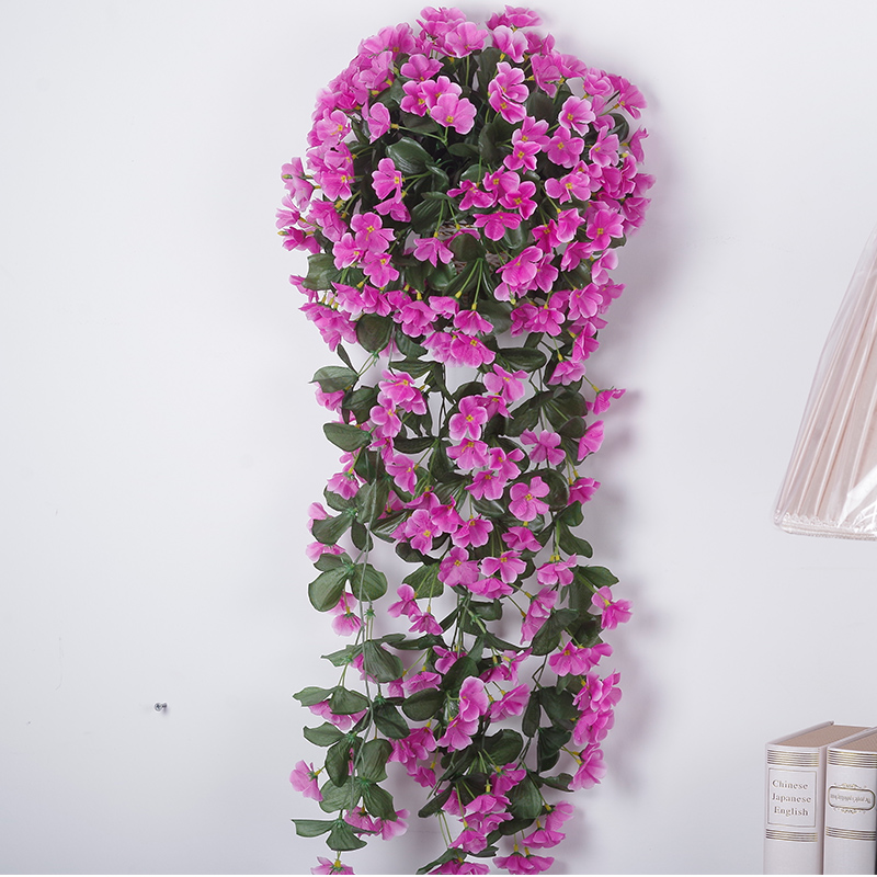 Gillyflower suit artificial flowers artificial plants hanging wrought iron decorative artificial flowers simulation rattan vine flower vine plants