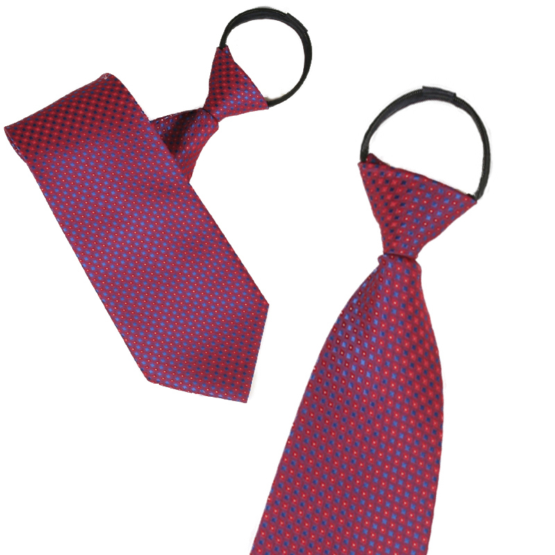 Ginllary convenient zipper tie easy to pull men and women work tie red tie wedding