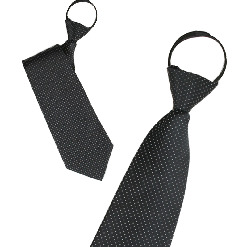 Ginllary new easy to pull zipper tie men's formal wear business casual tie tie tie lazy