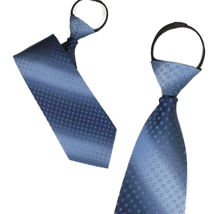 Ginllary zipper tie easy to pull tie blue tie married men's business suits accessorise