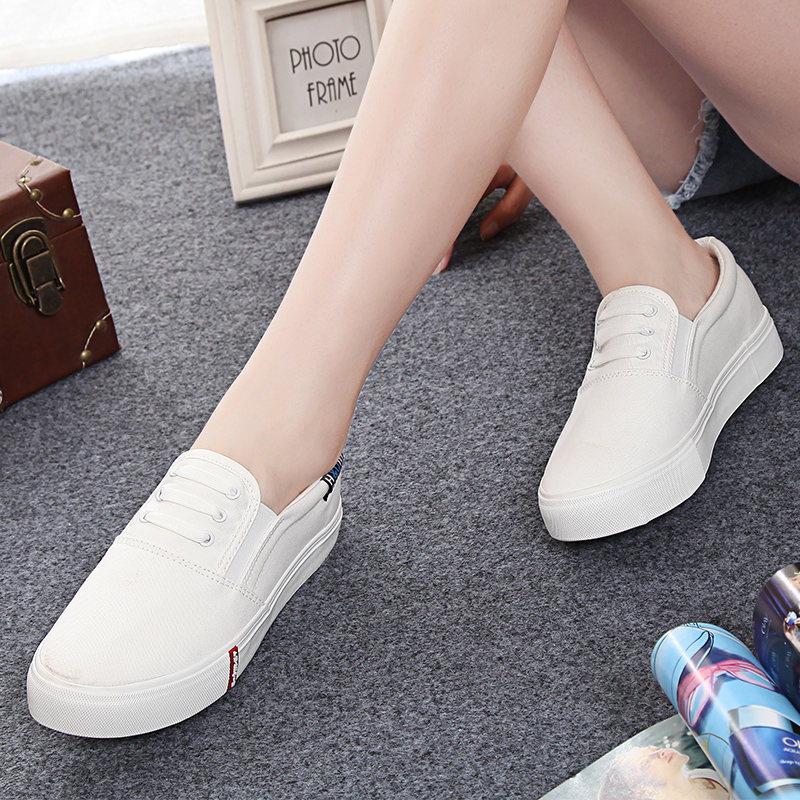 Global 2016 spring shoes foot flat shoes casual shoes white shoes white canvas shoes women shoes carrefour
