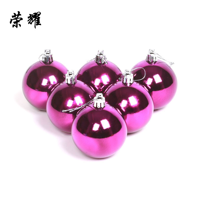 Glory 4cm christmas ball light ball plating ball christmas tree decoration pendant accessories red and gold