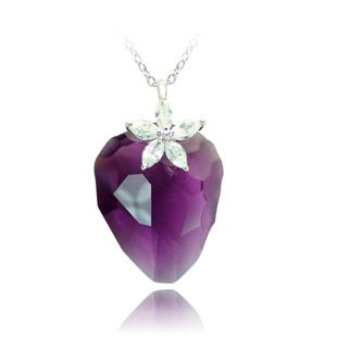 Gloss ms. models imported austrian crystal heart pendant necklace free shipping valentine's day gift to send his girlfriend