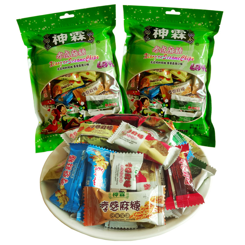 God lin particles loaded bag 400gx2 hubei xiaogan matang specialty snack pastry snack snacks specialty hi candy