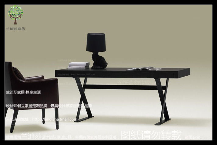 Golan nordic modern minimalist desk desk desk desk computer desk black oak color book desk desk desk desk custom furniture