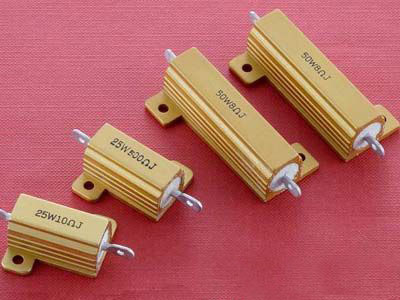 Gold metal shell aluminum resistance rx24-50w 6r 6 high power led heat dissipation ohm resistor precision 5%
