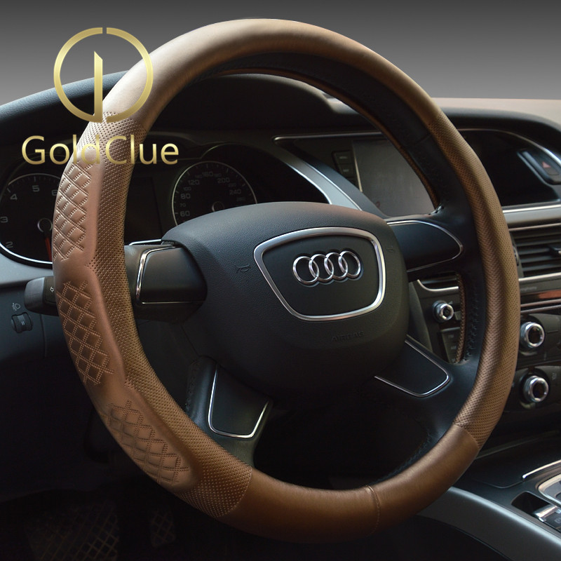 Goldclue/gold italian dedicated lincoln mkc/mkx/mkz/navigator/mkt/mks direction Steering wheel cover