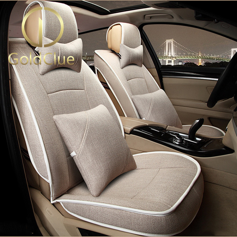 Goldclue/gold italian lincoln mkc/mkx/mkz/mkt/mks full surround flax car seat cushion four seasons
