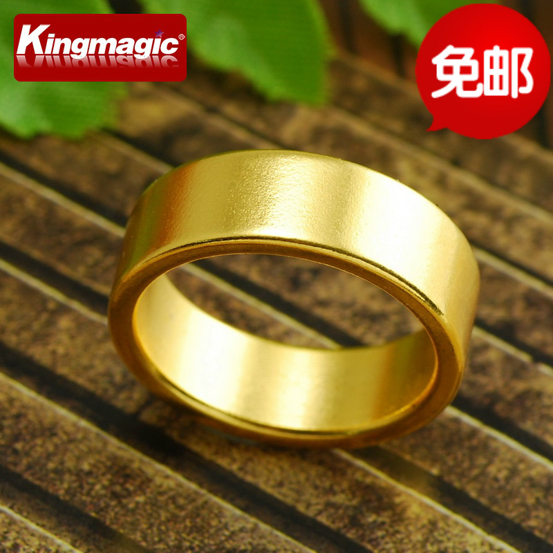 Golden magnetic ring magnetic ring ring box to send a strong magnet rings magic props