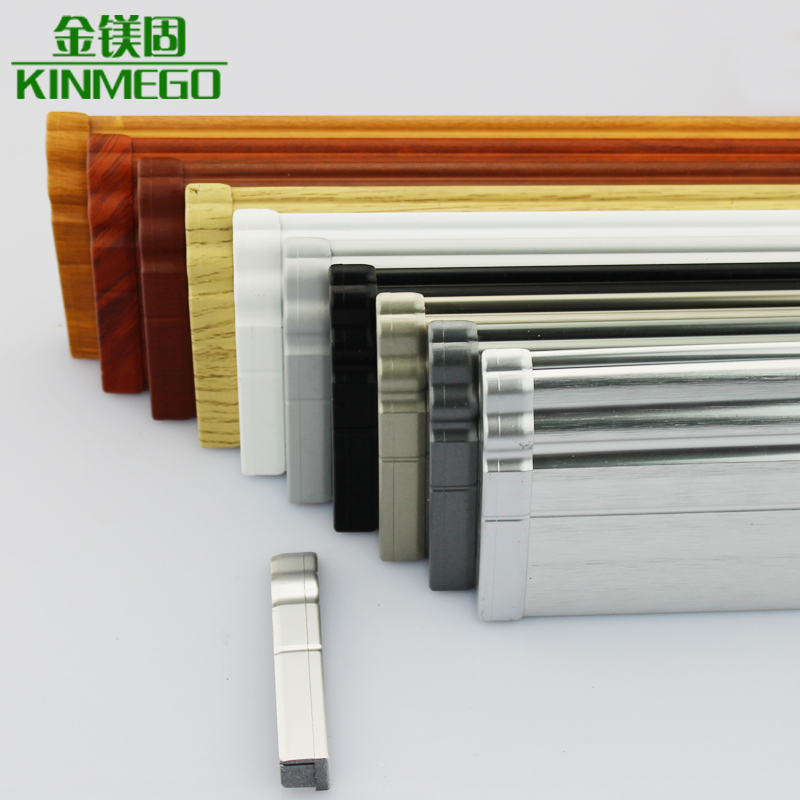 Golden solid magnesium plug connector plug brushed aluminum baseboard skirting board floor tiles carpet special
