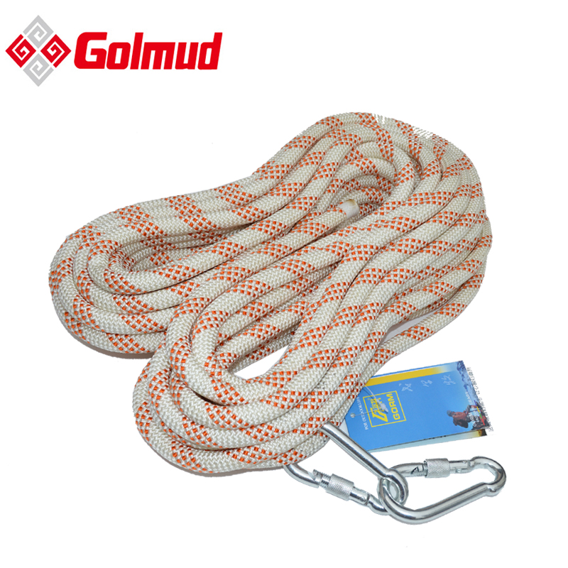 Golmud 14MM dupont nylon rope outdoor climbing rope ce certification of electrical safety rope climbing rope nylon rope