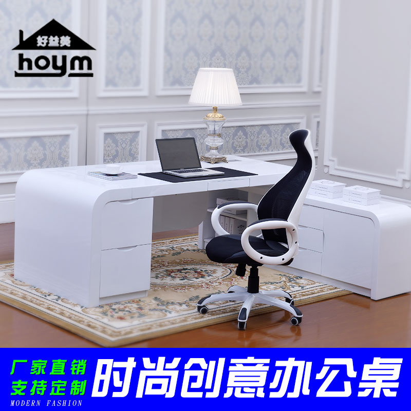 Good benefits us white paint chairs desk manager boss desk office furniture minimalist modern creative office