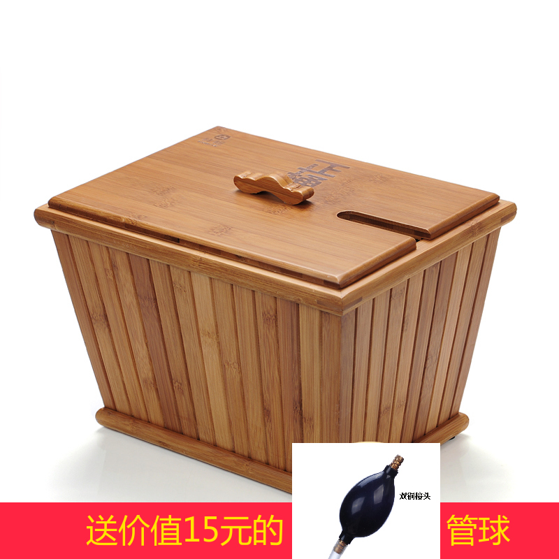 Good day ming bamboo water bucket kung fu tea accessories tea tray drain bucket bucket bucket detong tea leaves tea bucket bucket moso