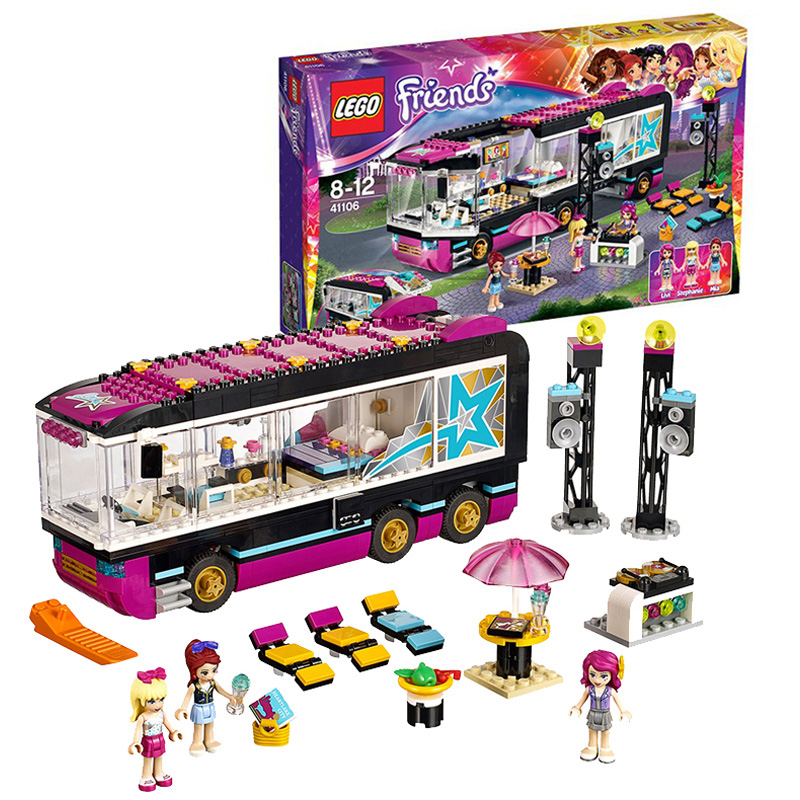 Good friend series 41106 big star tour bus lego lego friends fun toys