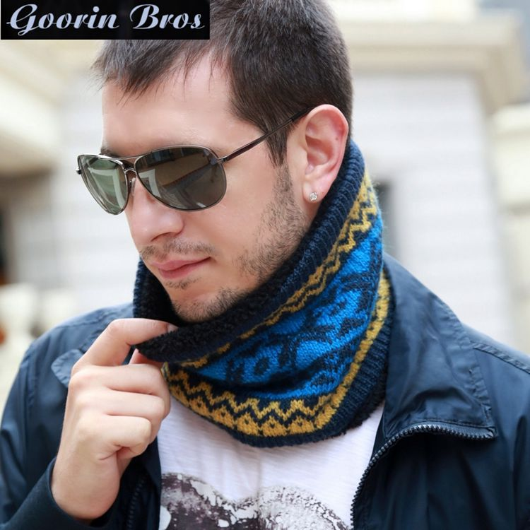Goorin bros male korean winter thick wool scarf collars outdoor riding windproof warm spring and autumn