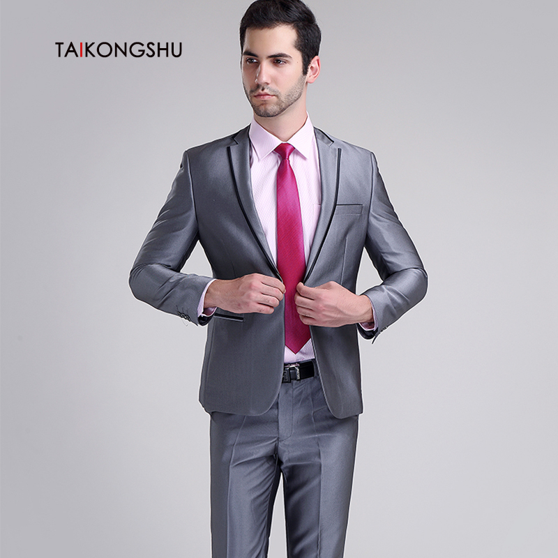 China Wedding Suit Groom Slim Fit Gray, China Wedding Suit Groom ...