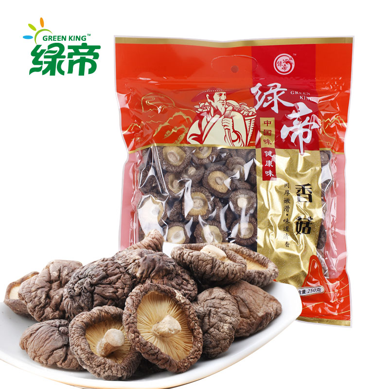 Green dili furuta mushroom shiitake mushrooms basswood dry mushroom shiitake mushrooms dry fujian native mushrooms dry shear pin 250g