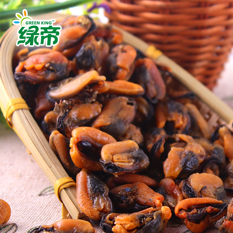 Green emperor fujian xiamen specialty dried seafood mussel mussels mussels haihong green sea products 230g * 2