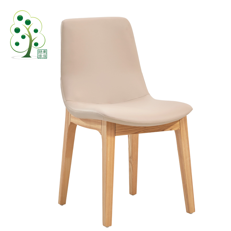 Green fruit home nordic ash wood dining chairs modern minimalist fashion designer and creative wood chair