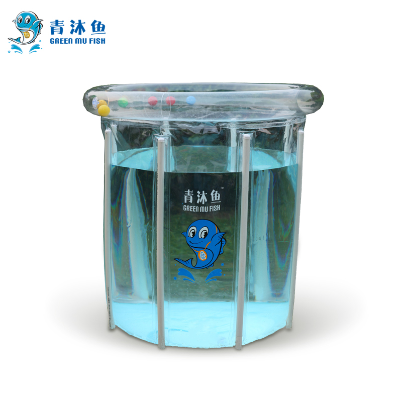 Green mu fish transparent baby pool bracket infant swimming pool baby pool paddling pool bathing pool for children