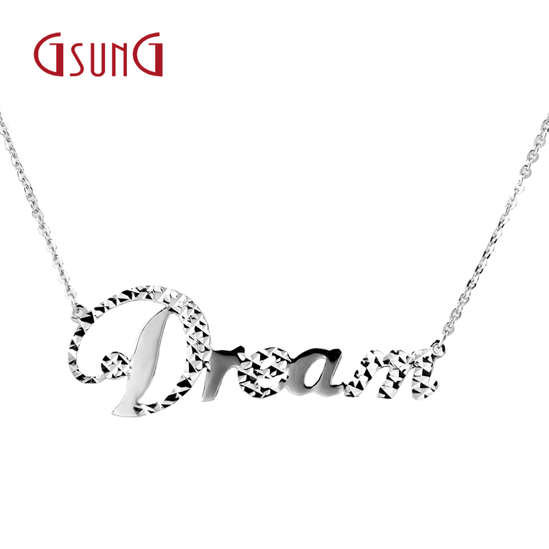 Gsung kyrgyzstan kyrgyzstan ms. fashion dreams plain gold pt950 platinum necklace platinum necklace jewelry birthday gift