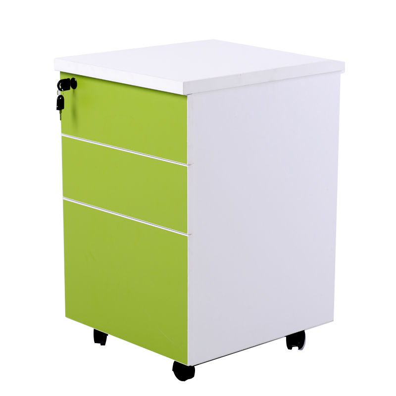 Guangdong asahi office furniture cabinet three pumping activities cabinet mobile aigui lockable file cabinet storage household push