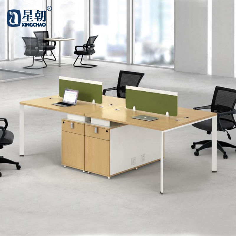 Guangzhou lowfat towards furniture four double single digit combination wall panels desk staff office computer desk staff