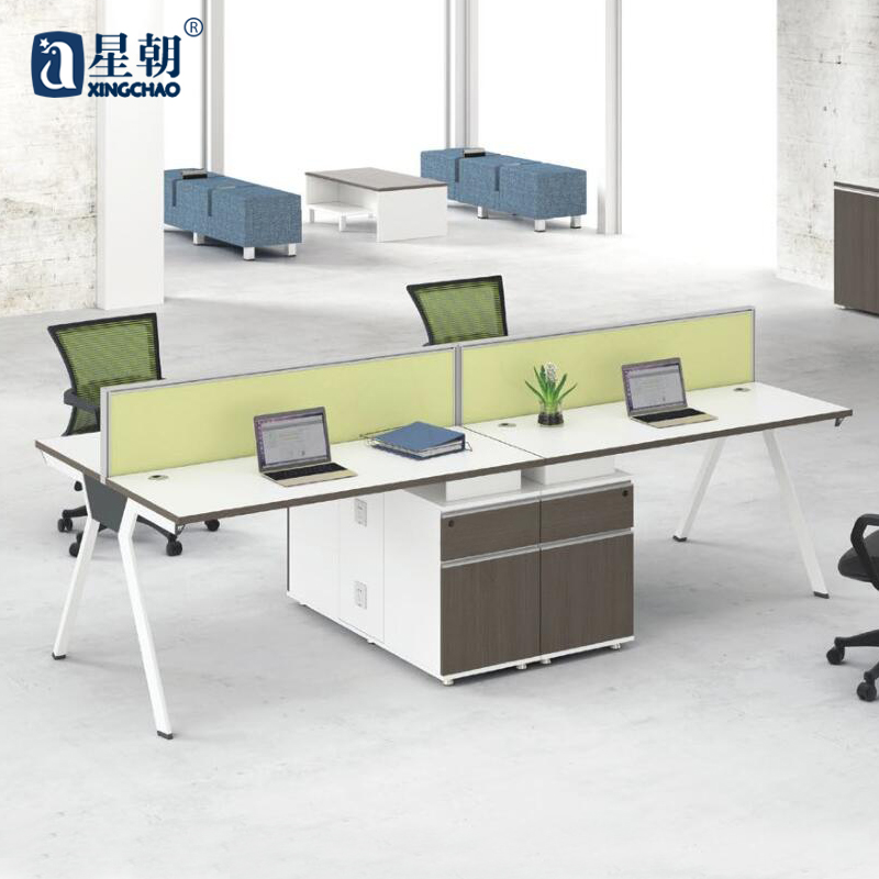 Guangzhou lowfat towards furniture single/two/four bits desk staff desk computer desk wall panels Card bit
