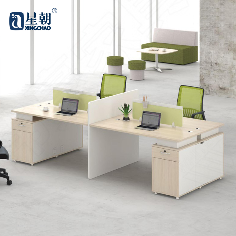 Guangzhou lowfat towards furniture wall panels combination desk staff employees work desk computer desk desk