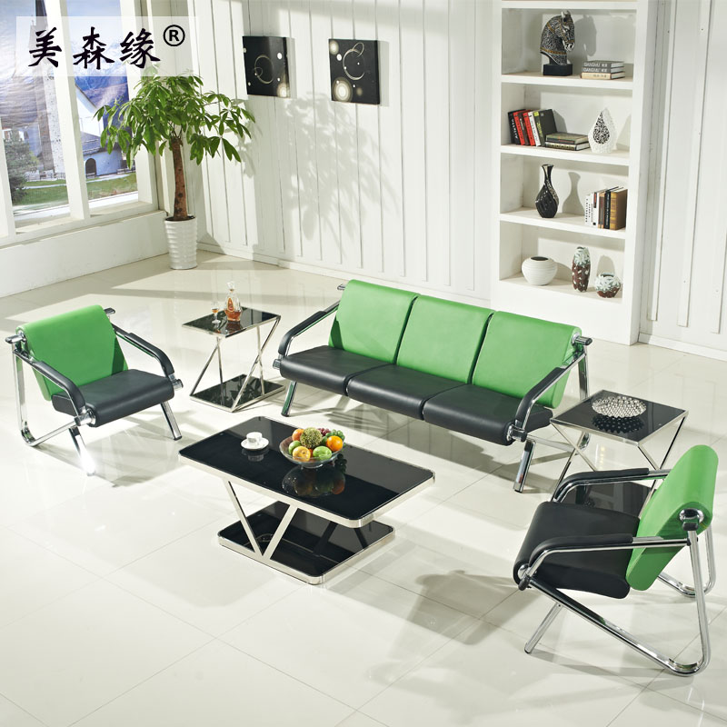 Guangzhou new business reception office sofa modern minimalist simple three digit office sofa can be customized