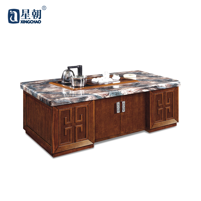Guangzhou towards commercial home kung fu marble coffee table furniture long coffee table coffee table to discuss the reception parlor