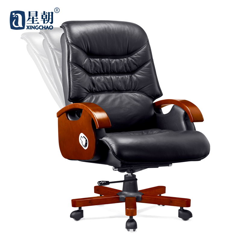 Guangzhou towards furniture cowhide foot wood ceo boss executives reclining office chair office chair