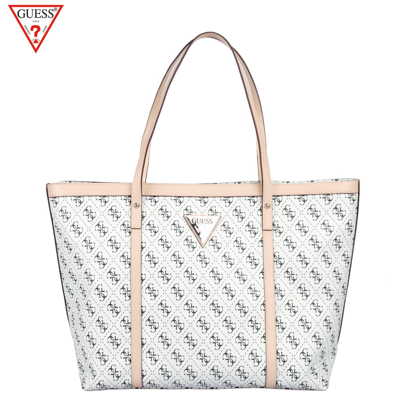 Guess the new handbag simple letters shoulder bag handbag european and american style pvc printing large tote bag women